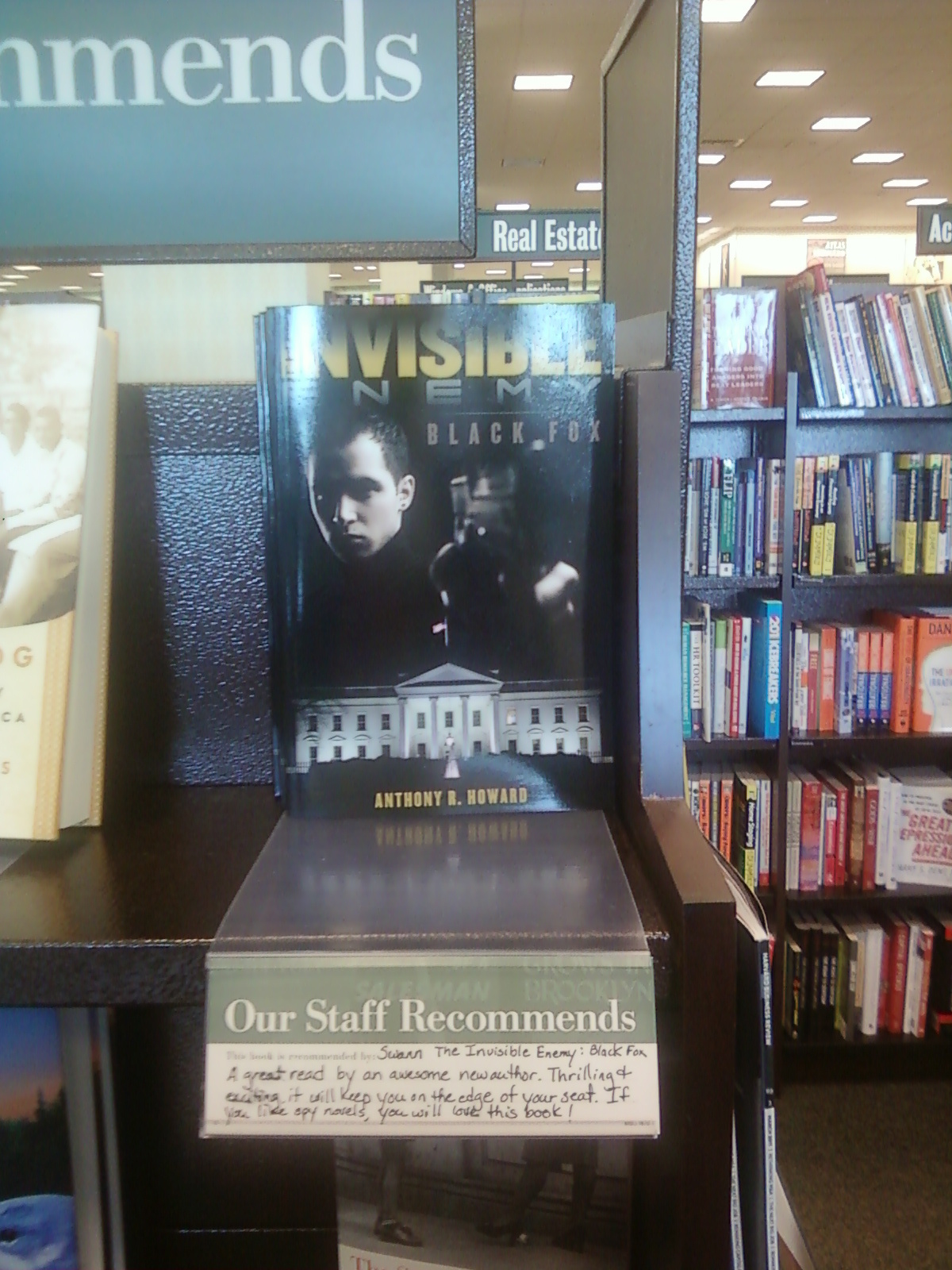 Barnes and nobles staff recommendation